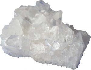 Wit heldere edelsteen bergkristal