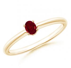 gouden ring met rode edelsteen granaat