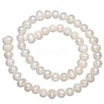 witte edelsteen zoetwaterparels wit