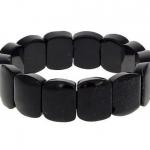 Zwarte edelsteen, Toermalijn stoere armband