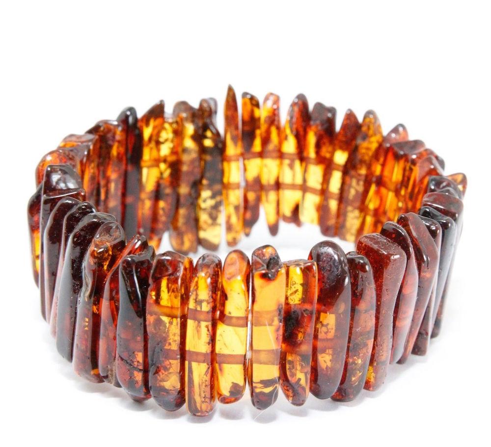 Bruine gele edelsteen barnsteen amber armband