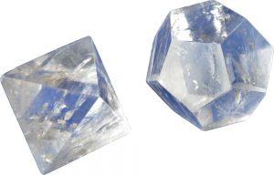 Heldere edelsteen kwarts bergkristal Icosaëder en Octaëder