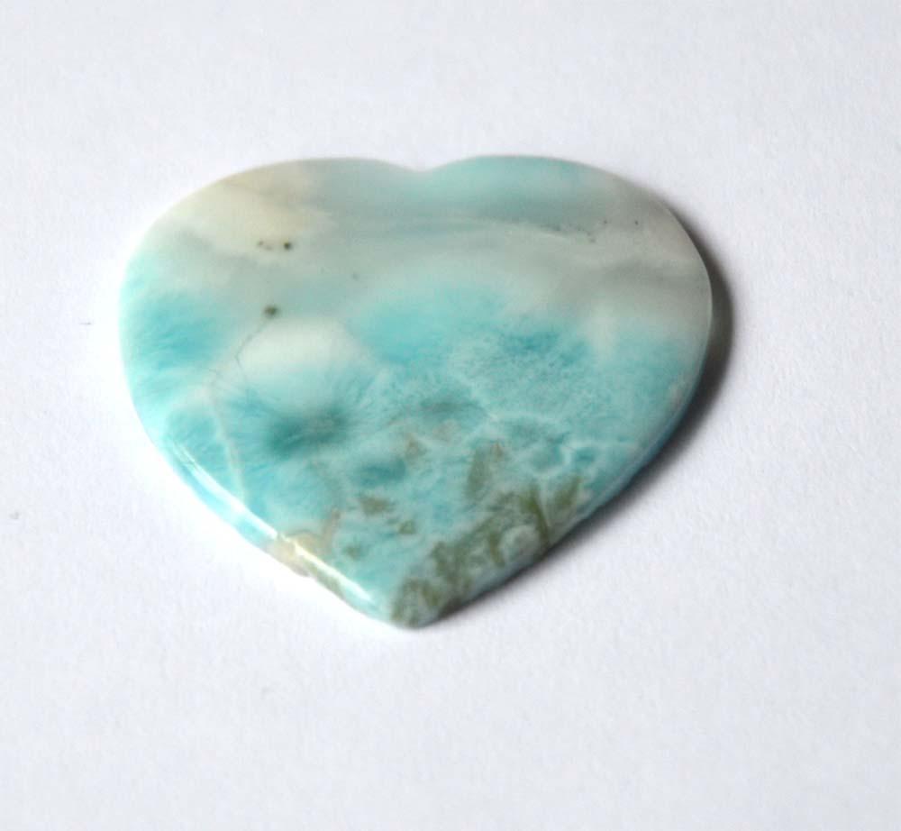 Turquoise edelsteen Larimar hart Dominicaanse Republiek