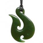 Groene edelsteen, Nefriet / Jade Maori hanger van Punamu