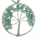 Groene edelsteen, Aventurijn, Levensboom /Tree of Life