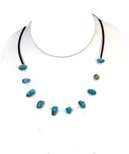 Blauwe edelsteen ketting Oceaan Jaspis