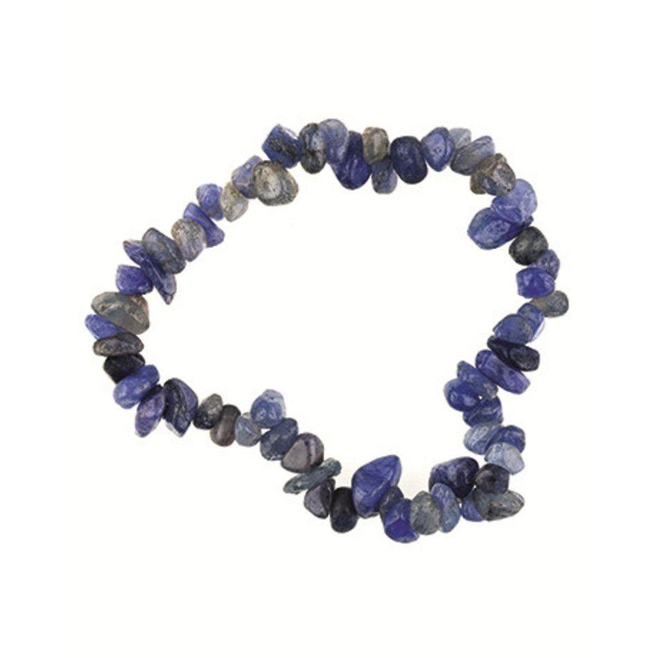 Agaat blauw splitarmband (gekleurd)