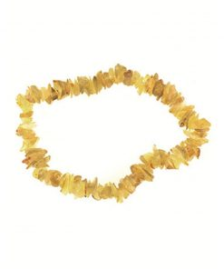 Agaat geel splitarmband (gekleurd)