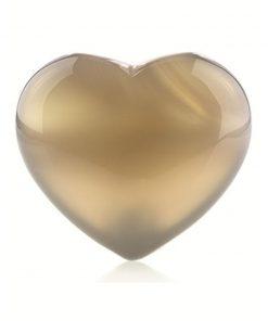 Agaat grijs edelsteen hart 25 mm
