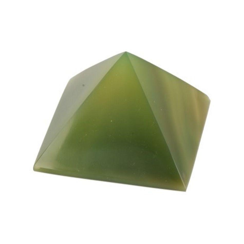 Agaat groen piramide 30 mm (gekleurd)