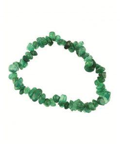 Agaat groen splitarmband (gekleurd)