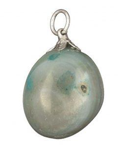 Agaat klein (gekleurd) groen edelsteen hanger
