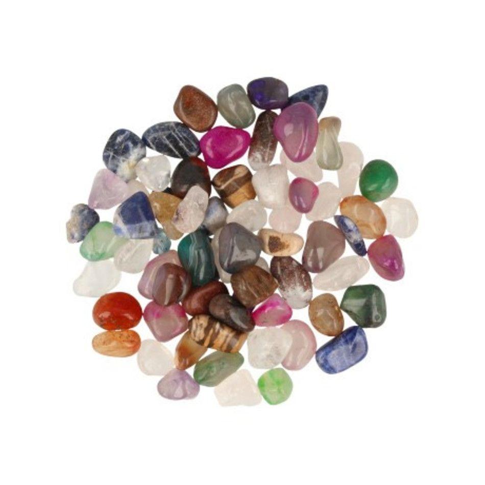 Agaat mix 100 gr. trommelstenen (gekleurd) (mt2)