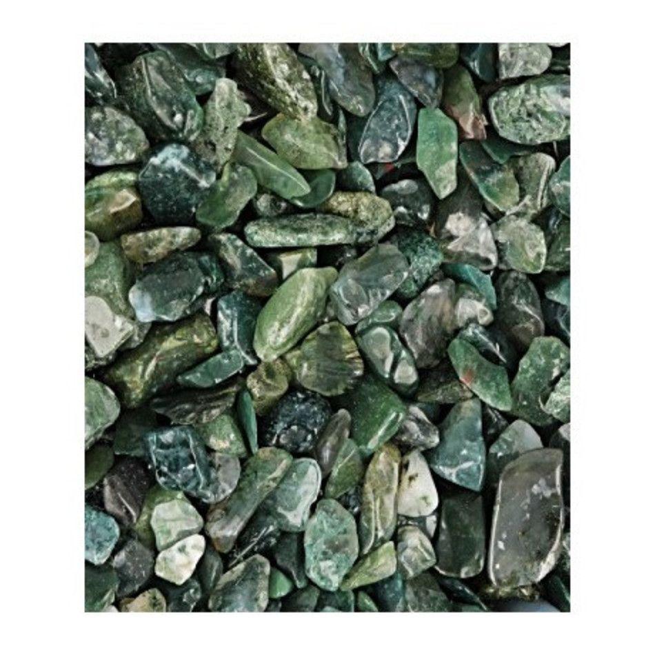 Agaat mos 100 gr. trommelstenen (mt1)
