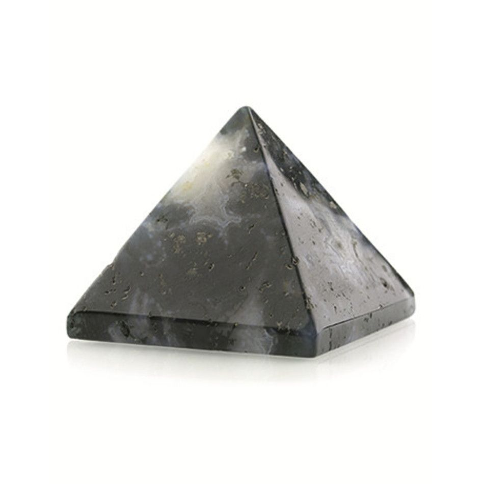Agaat mos edelsteen piramide 25 mm