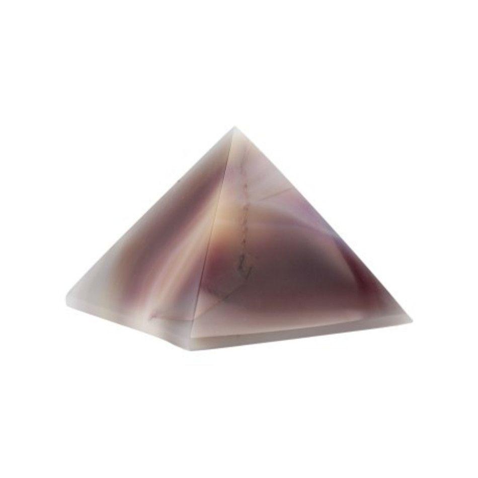 Agaat paars piramide 50 mm (gekleurd)