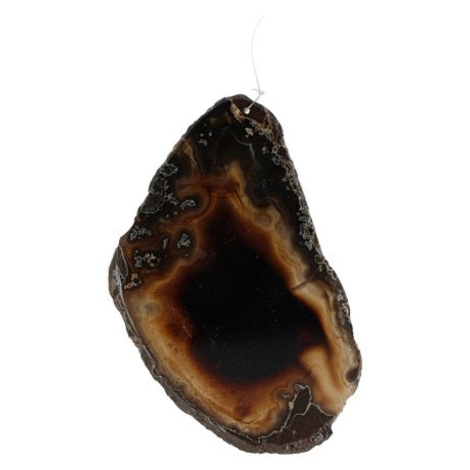 Agaat zwart raamhanger 10-13 cm