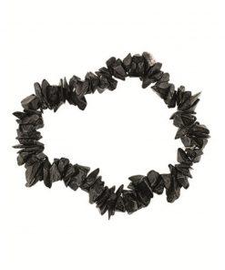 Agaat zwart splitarmband