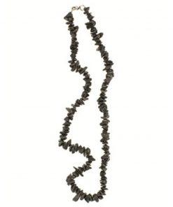 Agaat zwart splitketting