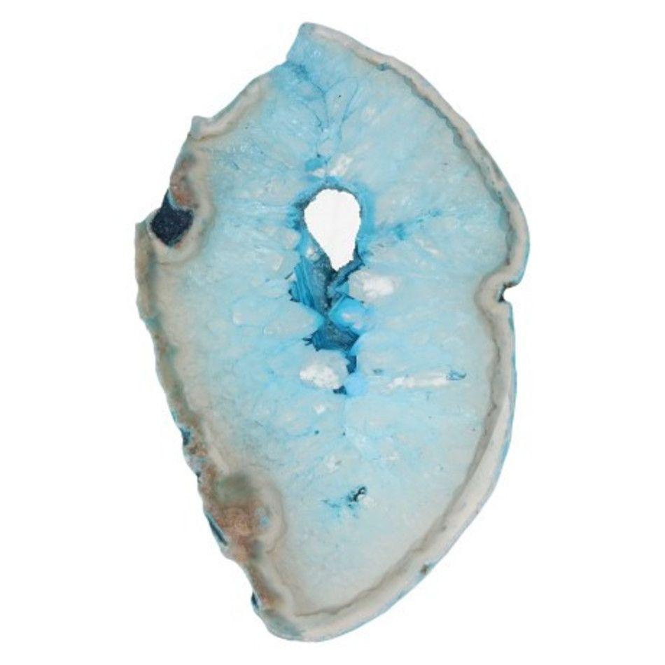 Agaatschijf blauw klein 6-10 cm