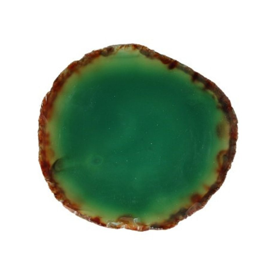 Agaatschijf groen klein 6-10 cm