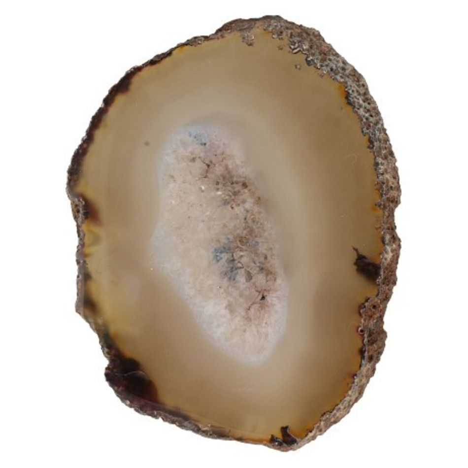 Agaatschijf natuur klein 6-10 cm