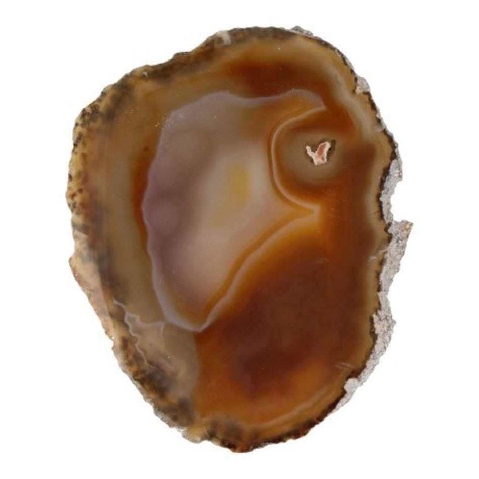 Agaatschijf natuur middel 10-15 cm