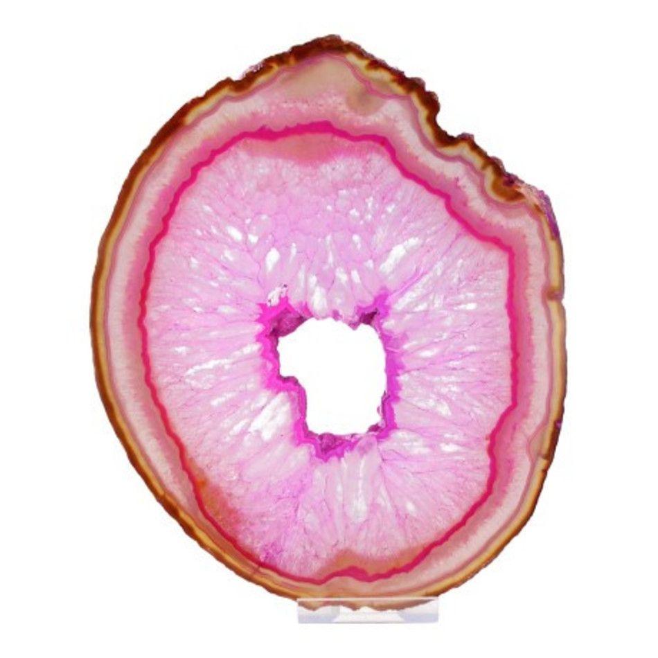Agaatschijf nr.10 roze (gekleurd)