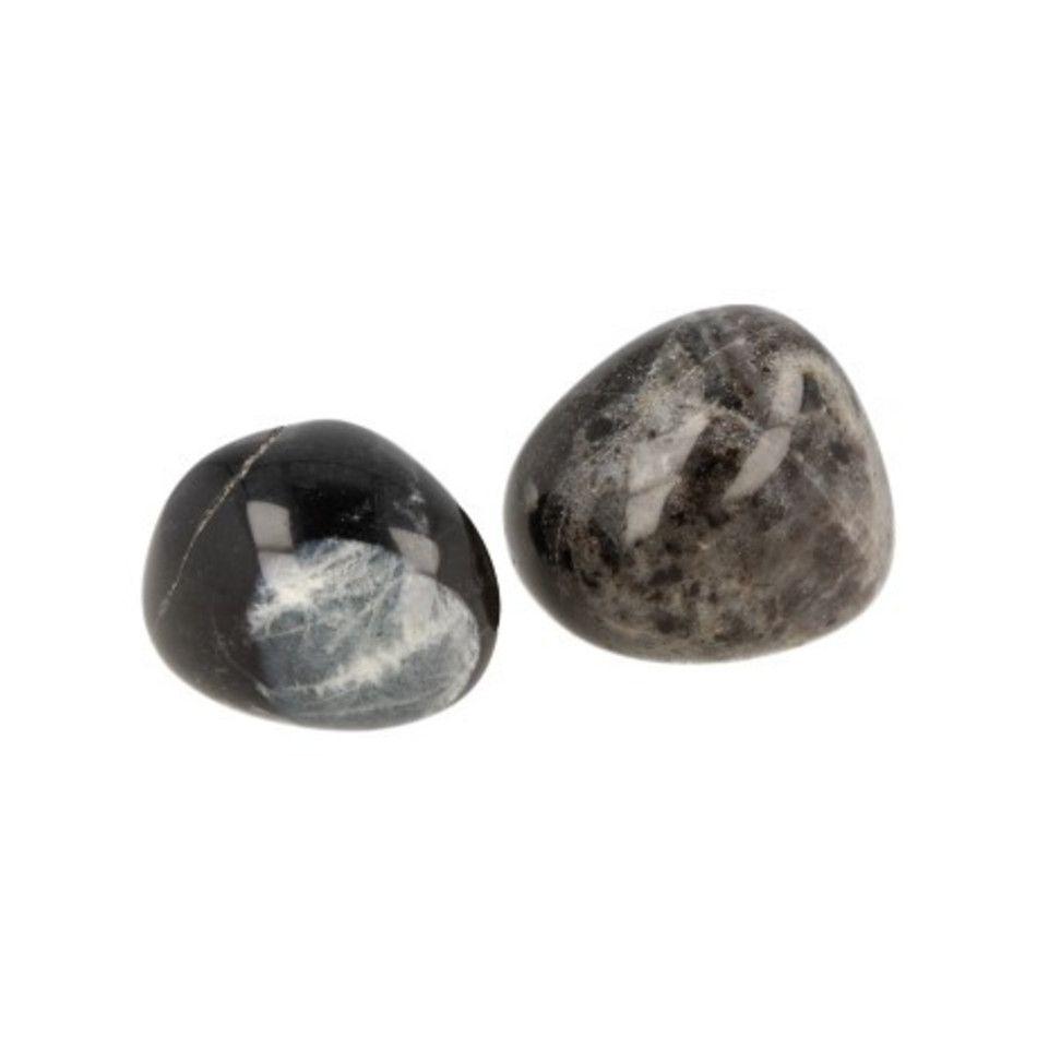 Amazoniet zwart 1 st. trommelsteen (mt3)