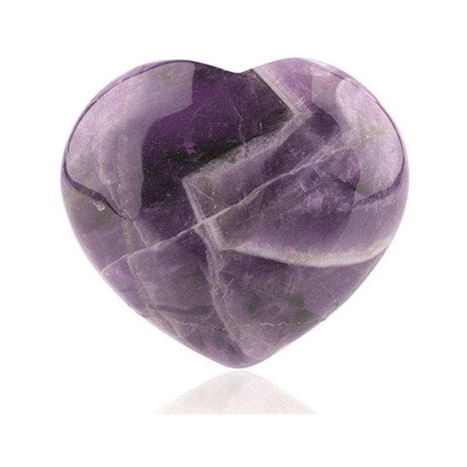 Amethist edelsteen hart 10 mm