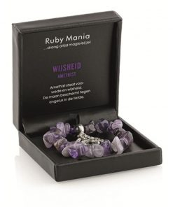 Amethist Ruby Mania, armband nr 20, nugget