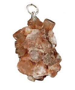 Aragoniet edelsteen hanger (gekristalliseerd)