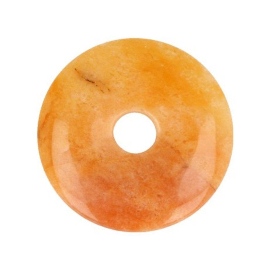 Aventurijn geel donut 30 mm