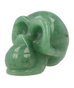 Aventurijn groen edelsteen schedel klein