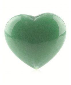 Aventurijn groen edelsteenhart 45 mm