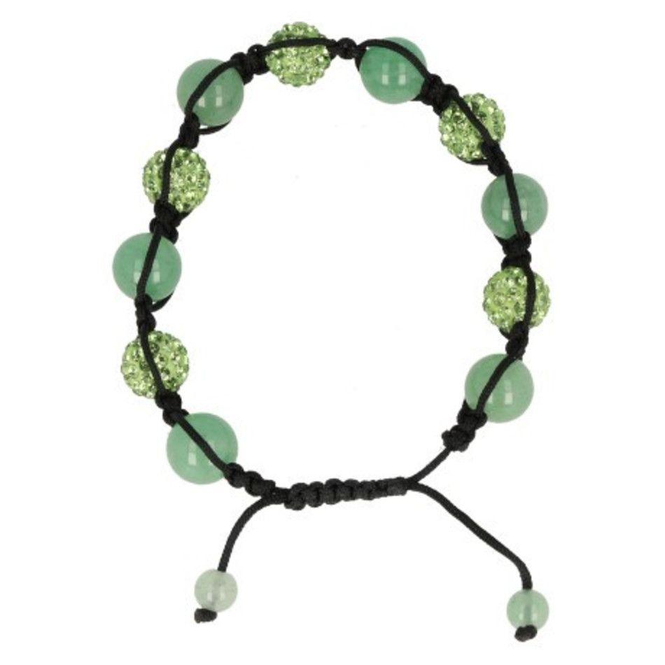 Aventurijn groen glitter shamballa armband