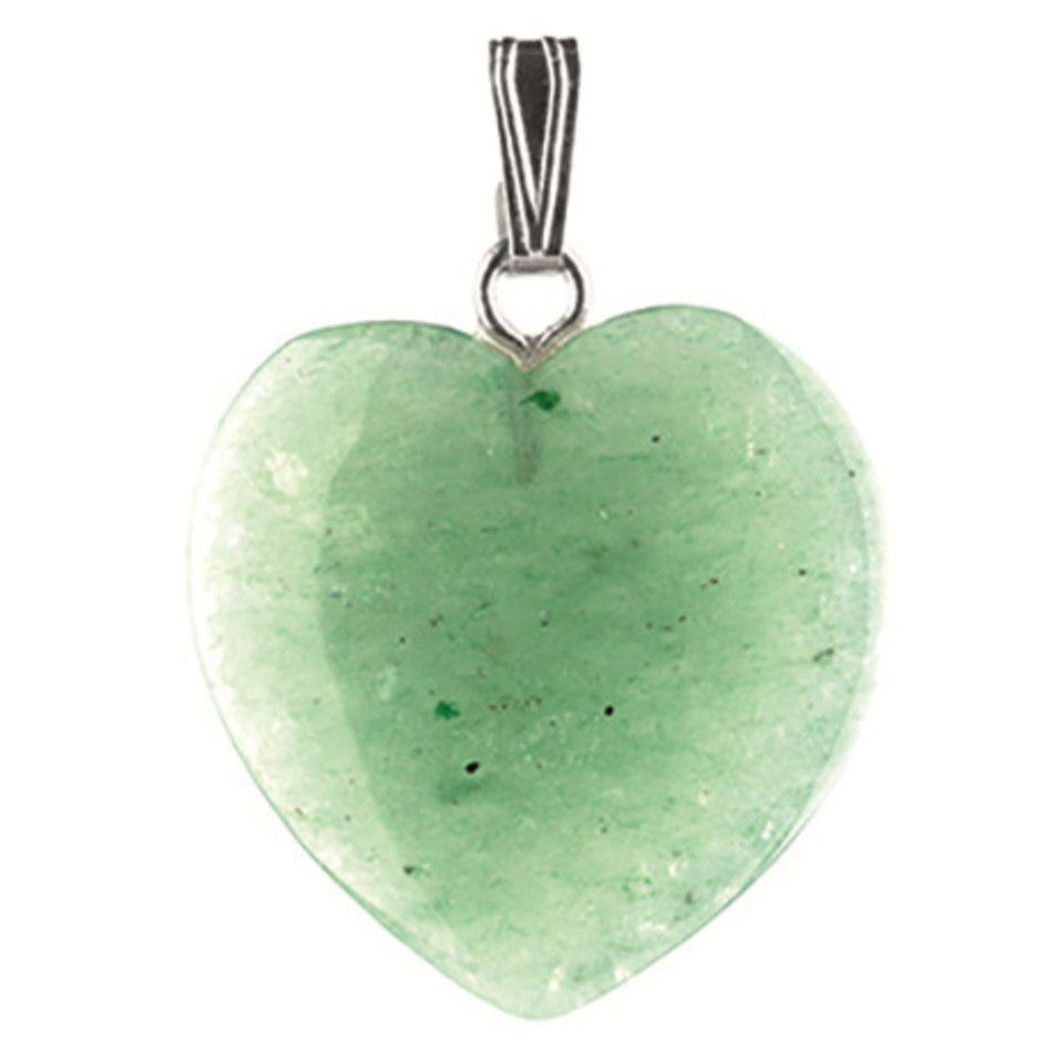 Aventurijn groen hart hanger 20 mm
