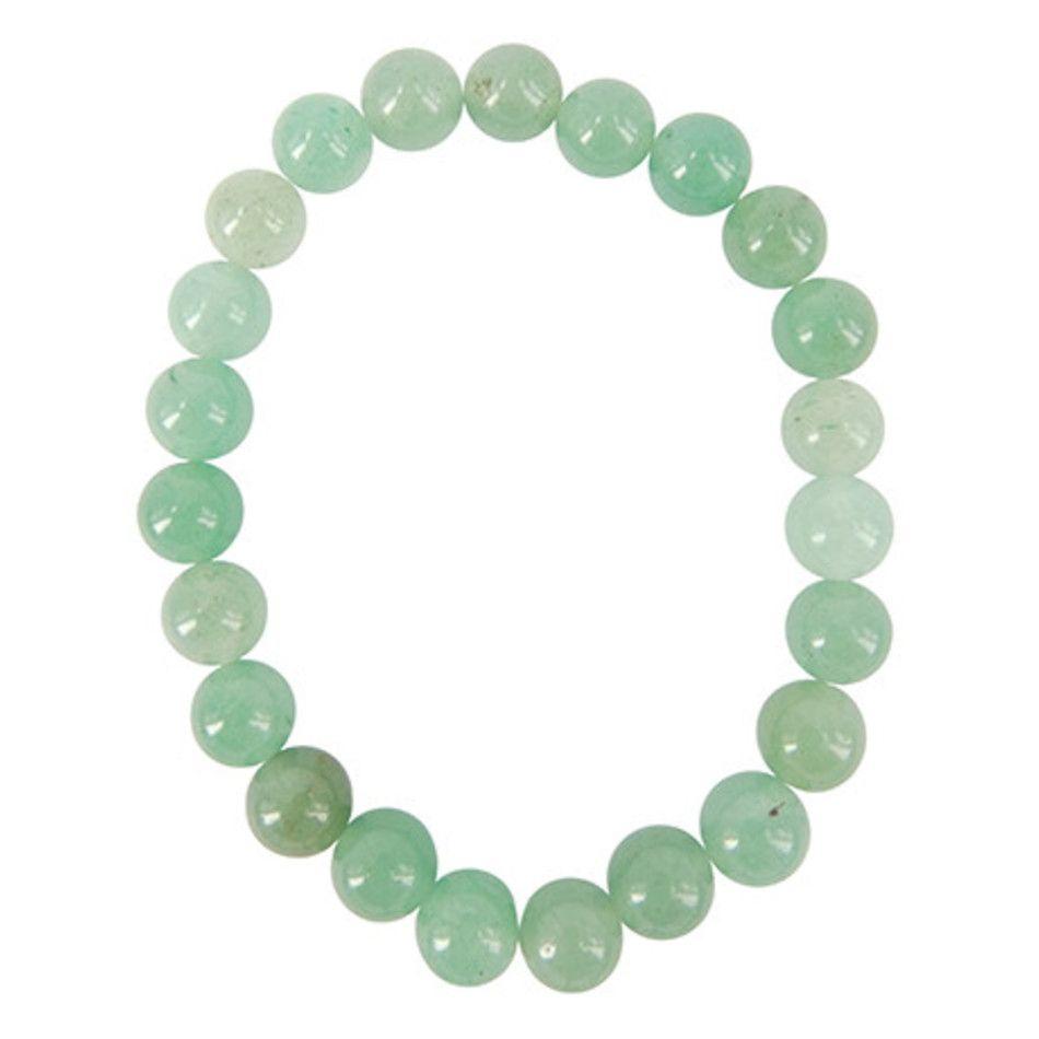 Aventurijn groen kralenarmband 8 mm