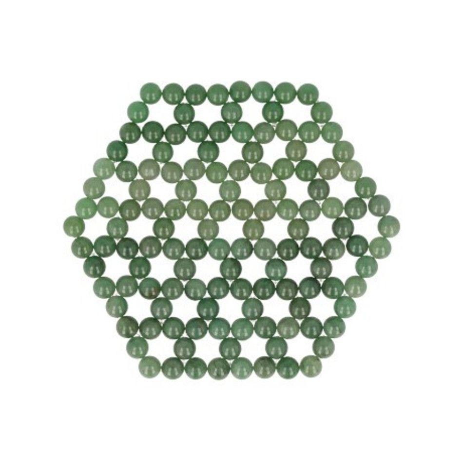 Aventurijn groen levensbloem onderzetter / mat