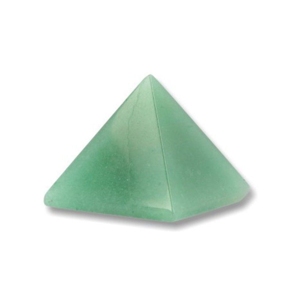 Aventurijn groen piramide 30 mm edelsteen