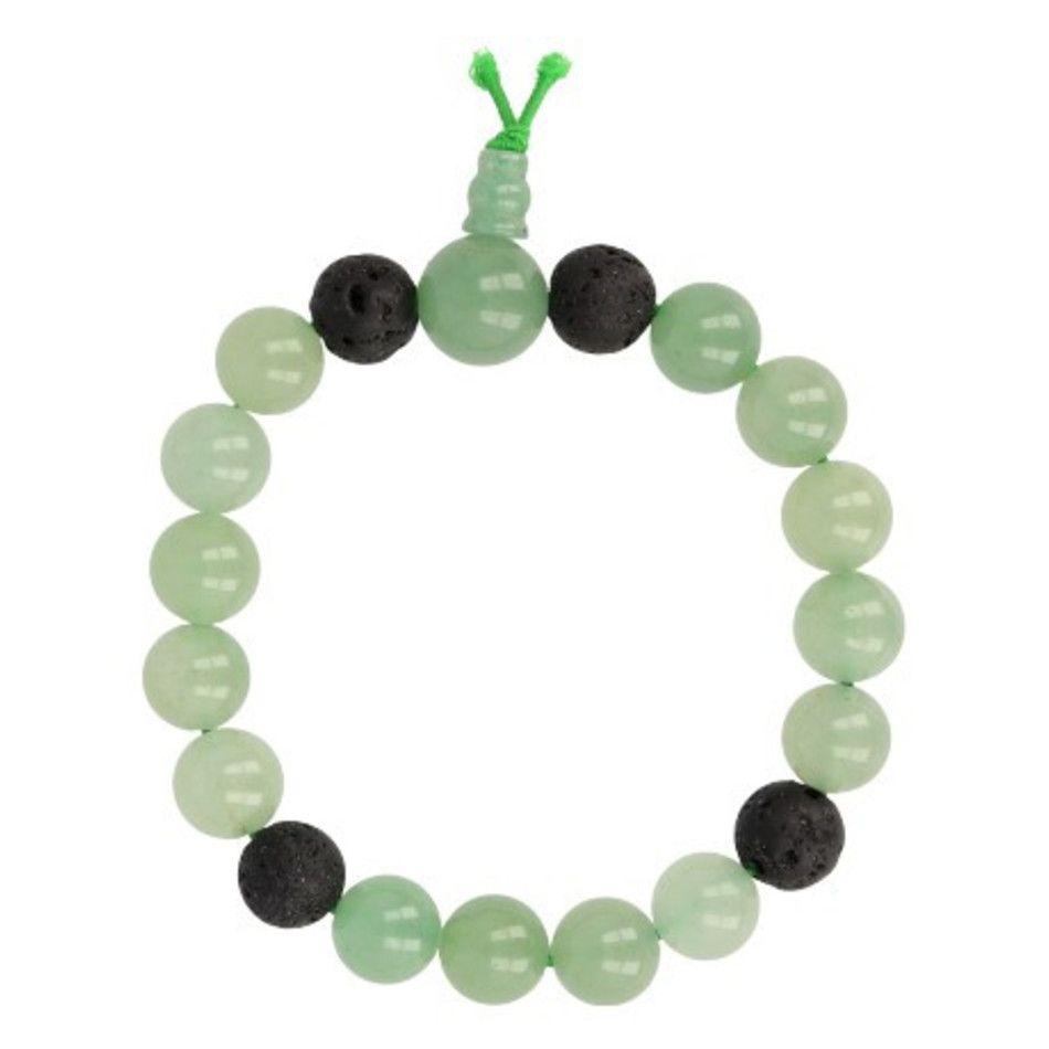 Aventurijn groen powerbead mannen - extra lange armband