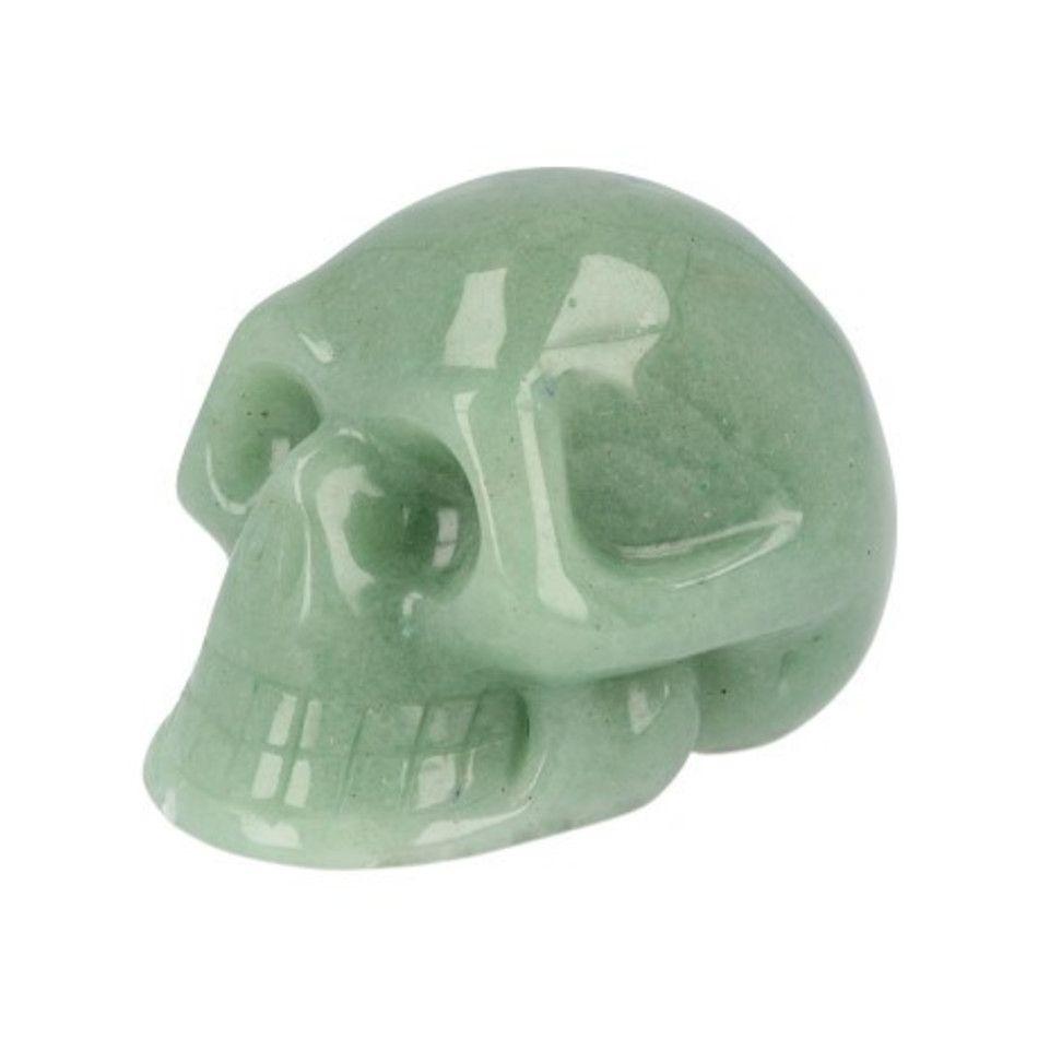 Aventurijn groen schedel 60 mm