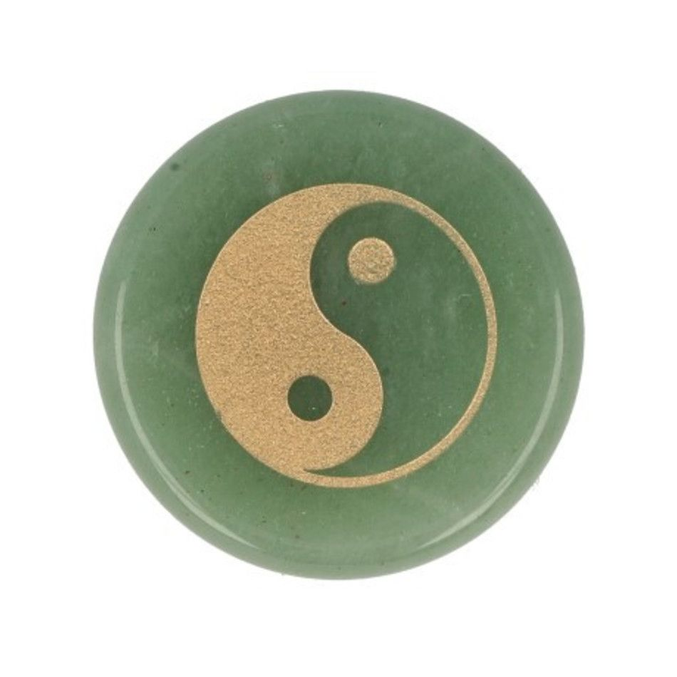 Aventurijn groen zaksteen Yin Yang