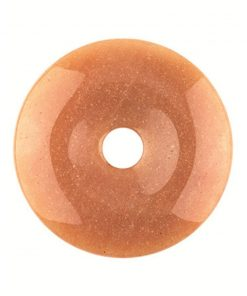 Aventurijn oranje donut 40 mm