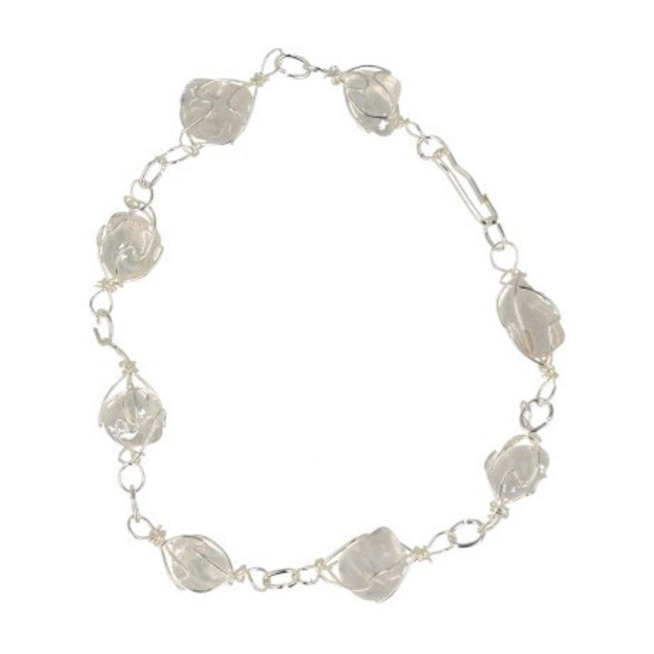 Bergkristal armband / enkelband edelsteen wire