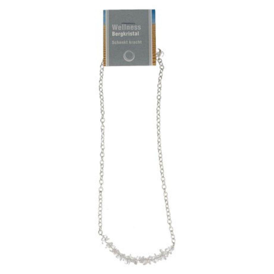 Bergkristal bar ketting + kaart