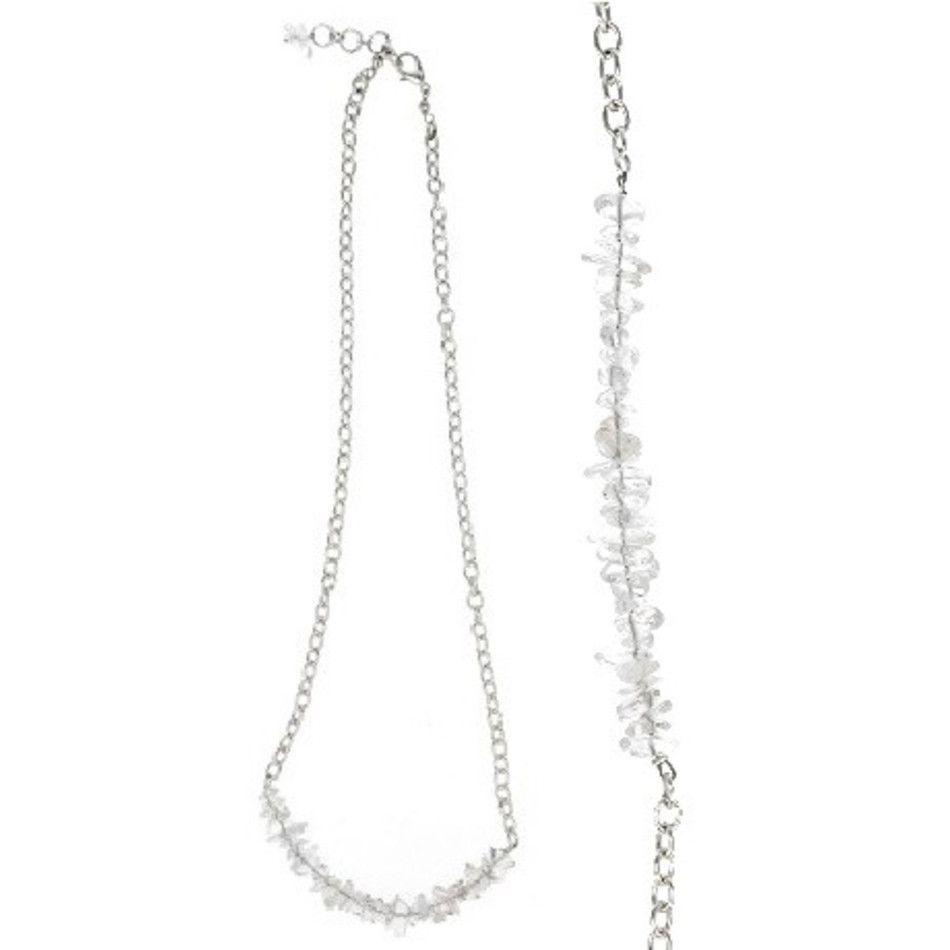 Bergkristal bar ketting