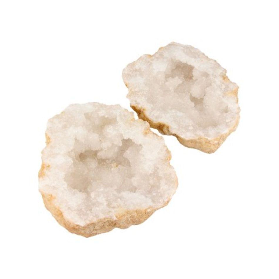 Bergkristal geode paar 12-16 cm