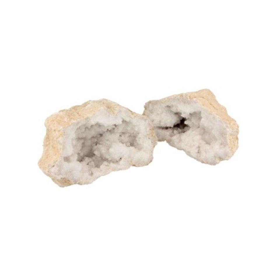 Bergkristal geode paar 16-20 cm