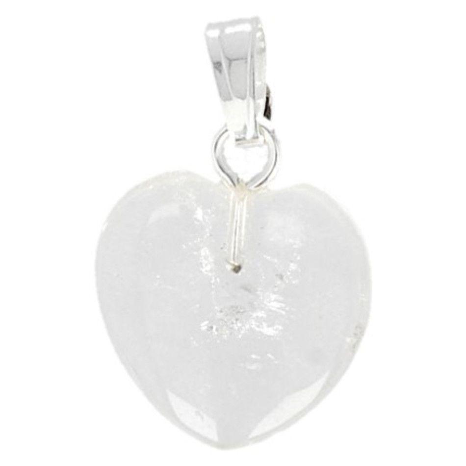 Bergkristal hart hanger 12 mm